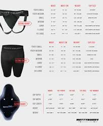 Nutty Buddy Size Chart Athletic Protective Cup Sizing Chart Jock Compression Shorts