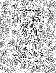 Printable Adult Coloring Pages Quotes Uma Printable