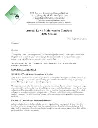 Landscaping Contract Template Maintenance Samples Landscape Proposal
