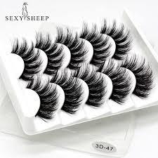 SEXYSHEEP <b>5Pairs 3D Mink</b> Hair False Eyelashes Natural/Thick ...