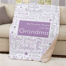 personalized favorite people call me word art sherpa throw personalized gifts for mom