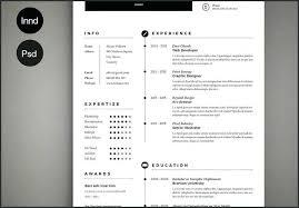 Adobe Indesign Resume Template Elegant Indesign Template Resume
