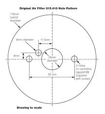technical drawings for vintage classic cars from holden vintage air filter for su 1 1 8 in austin healey frogeye sprite