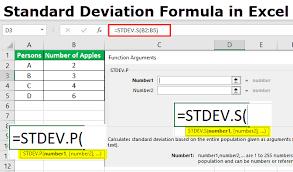 Standard Deviation Formula In Excel Calculate Stdev P