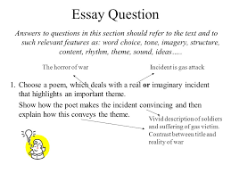essay question answers to questions in this section should refer  essay question
