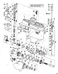 mercury outboard lower unit parts diagram new johnson gearcase parts for 1973 65hp 65esl73r outboard motor