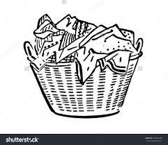 laundry clipart black and white. Modren White Laundry Basket Clipart Black And White Clipground With M