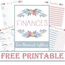 Monthly Finance Planner Financial Planner 2018 Transaction List Payment Tracker