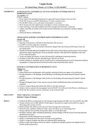 Customers Service Job Description Senior Customer Service Representative Resume Samples