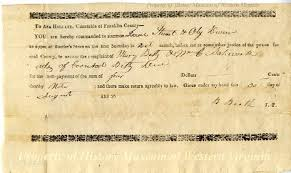 Summons - August 30, 1832