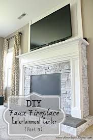 diy faux fireplace entertainment center part 3