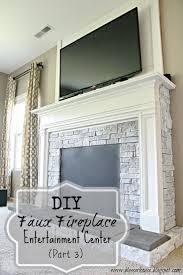 diy faux fireplace entertainment center part 3