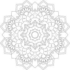 Garden Ring Free Printable Mandala Coloring