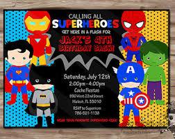 Personalized Superhero Birthday Invitations Superheroes Birthday Invitation Pr Superb Superhero Birthday