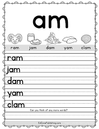 Worksheet downloads come in a variety of formats including pdf, ms word, and jpg. Am Word Family Worksheets Kindergarten Mom