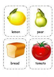 Food Flash Cards Food And Drink Flashcards Editable 3 4 Esl Worksheet By Maya_wee