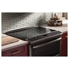 ge profile double oven. GE Profile 6.6 Total Cu. Ft. Slide-In Self Clean Convection Double Oven Range Ge