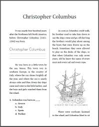 best reading comprehension images close reading  columbus essay christopher columbus workbook for grades