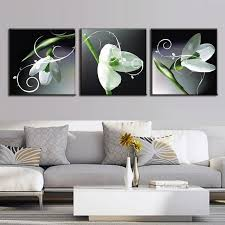 3 pcs set new flower painting white lily set canvas print wall art pictures 3 on 3 panel wall art set with 3 pcs set new flower painting white lily set canvas print wall art