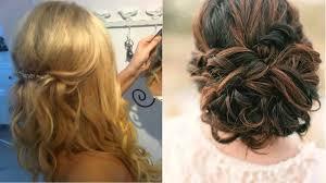 Wedding Half Up Hairstyles Wedding Guest Hair Half Up Half Down For Short Hair Salon