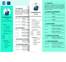 Extended Resume Template Design Professional Business Resume Cv Template And Extended