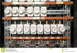 an old fuse box with cables and contactors old electrical panel  at Old Fuse Box Is Now Called A