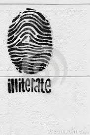 Resultado de imagem para simbolo do analfabetismo
