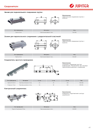 jupiter система молнезащиты и заземления Соединители 16 15 Контрольный соединитель Тип проводника