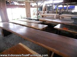 large teak dining table large dining table and bench suitable for outdoor dining furniture thick wood large teak