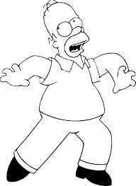 Coloriage Homer Simpson Imprimer