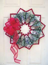 Fold And Stitch Wreath Pattern
