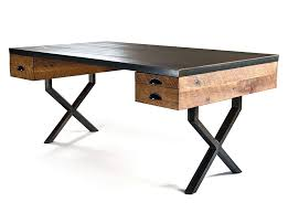 reclaimed wood office furniture. Iron-and-wood Reclaimed Wood Office Furniture