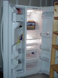 kenmore fridge inside. door open kenmore fridge inside o