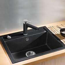 Blanco Granite Kitchen Sinks Blanco Dalago 6 10 Bowl Anthracite Black Silgranit Granite