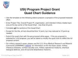 Ppt Usu Program Project Grant Quad Chart Guidance