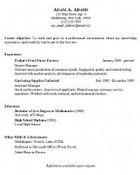 resume simple example examples of basic resumes marvelous sample of resume objective for