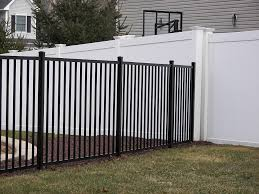 vinyl fence with metal gate. Metal Black Vinyl Fence With Gate