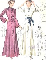 Robe Sewing Pattern Classy 48s BEAUTIFUL Beach Coat Bath Robe Lounging Robe Dressing Gown