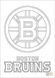 Small Picture Boston Bruins Logo coloring page Free Printable Coloring Pages