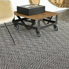 dash and albert diamond black ivory indoor outdoor rug