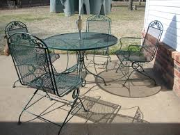 wrought iron patio table and 4 chairs. Furniture: 4 Piece Wrought Iron Woodard Patio Furniture With Umbrella - Reviews Table And Chairs