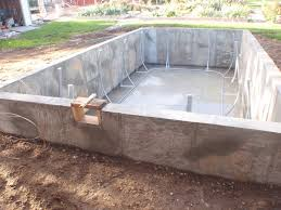 putting in a swimming pool for triathlon training the cement box above ground