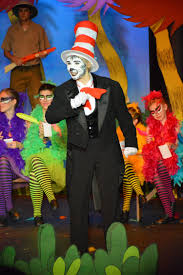 seussical jr cat in the hat makeup i used mehron s paradise face paint just black and white