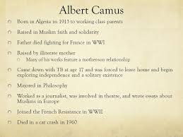 the stranger intro to key terms and ideas albert camus born in 2 albert camus