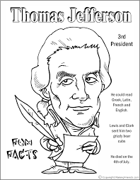 Small Picture Free printable President Thomas Jefferson coloring pages CC