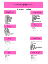 Newborn Baby Checklist How To Prepare For A Newborn By A