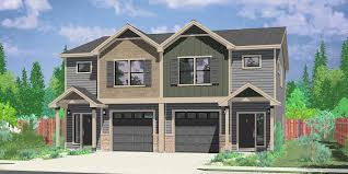 d 602 craftsman duplex house plans townhouse plans row house plans d