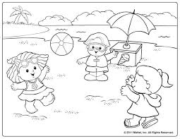 Small Picture Little People at the Beach Coloring Pages Pinterest Beach