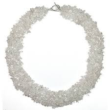 picture of woven quartz crystal necklace