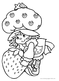 strawberry shortcake coloring pages coloring pages